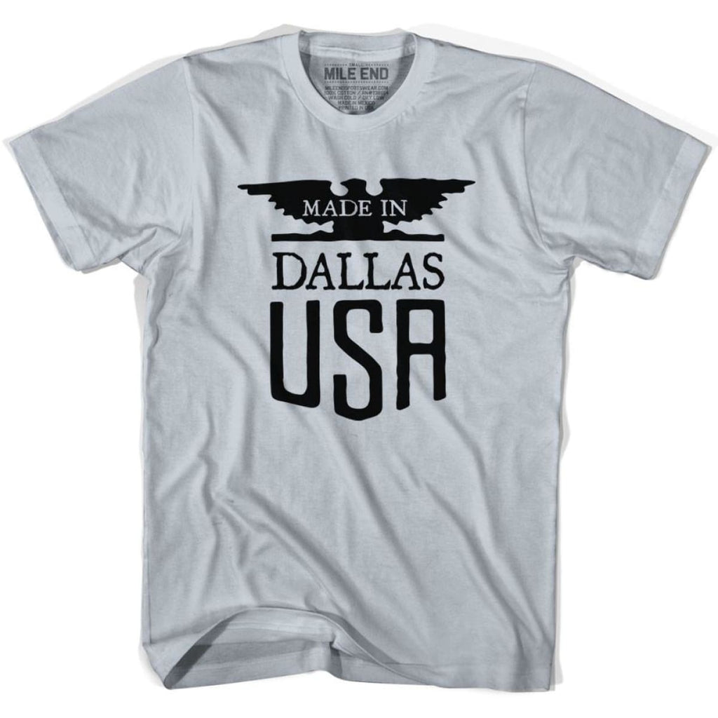 Made In USA Dallas Vintage Eagle T-shirt - Silver / Youth X-Small - Made in Eagle