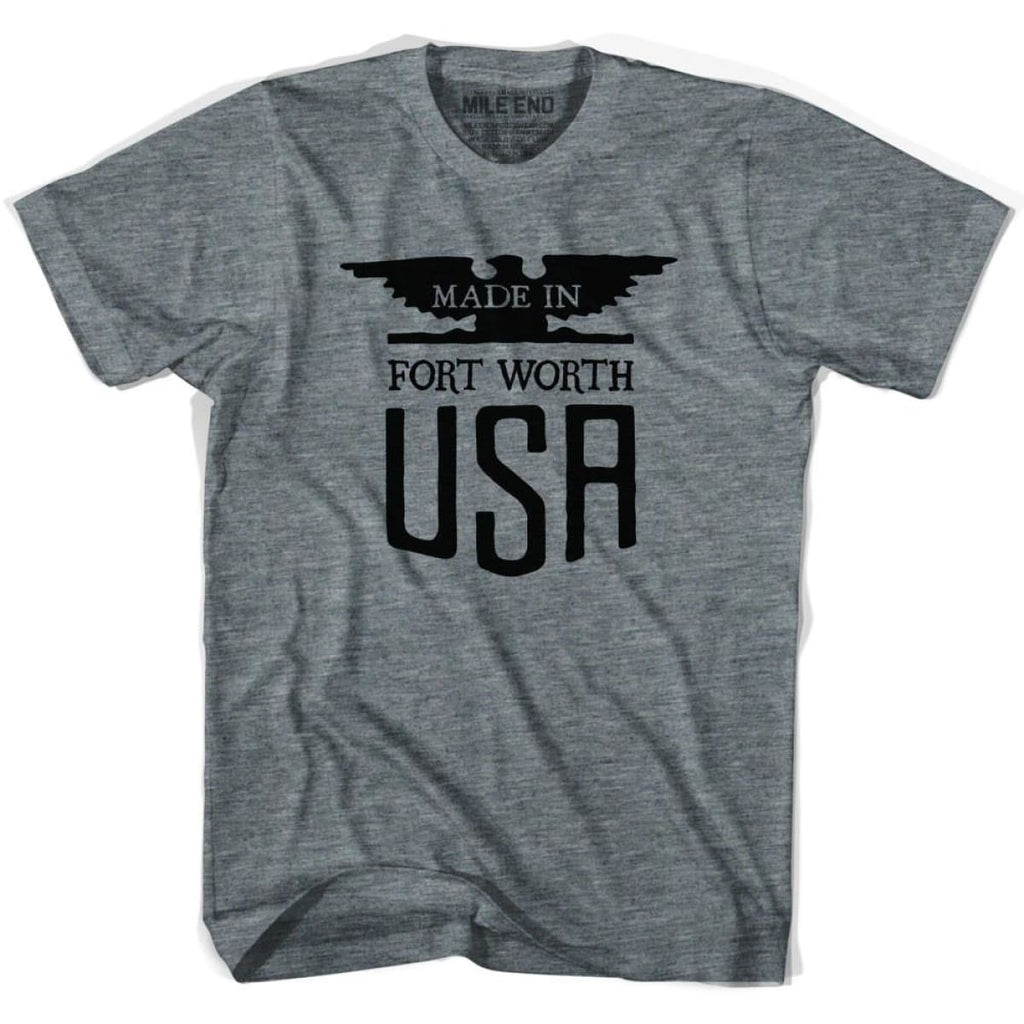 Made In USA Fort Worth Vintage Eagle T-shirt - Athletic Grey / Youth X-Small - Made in Eagle