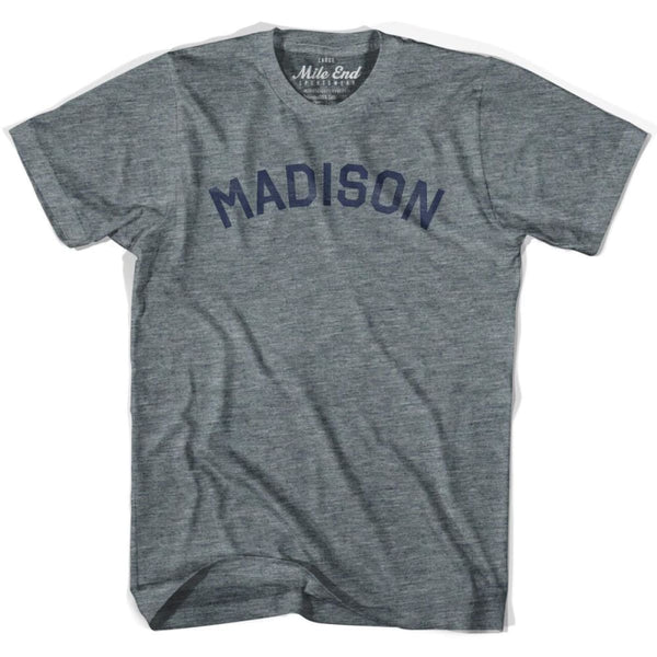 Madison City T-shirt - Athletic Grey / Adult X-Small - Mile End City