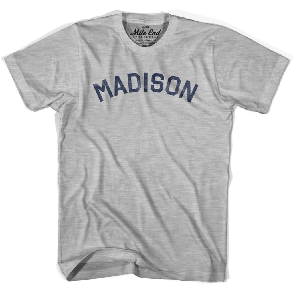 Madison City Vintage T-shirt - Grey Heather / Youth X-Small - Mile End City