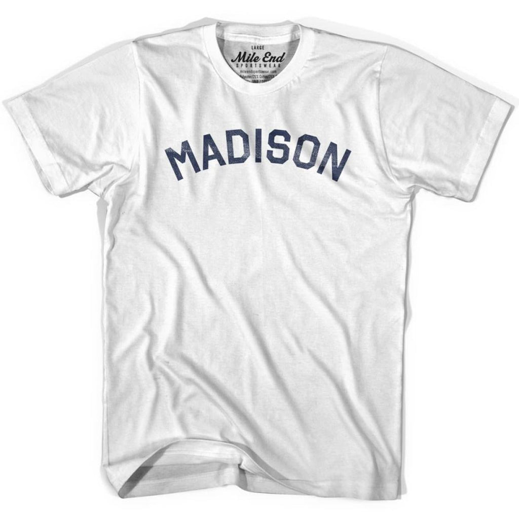 Madison City Vintage T-shirt - White / Youth X-Small - Mile End City
