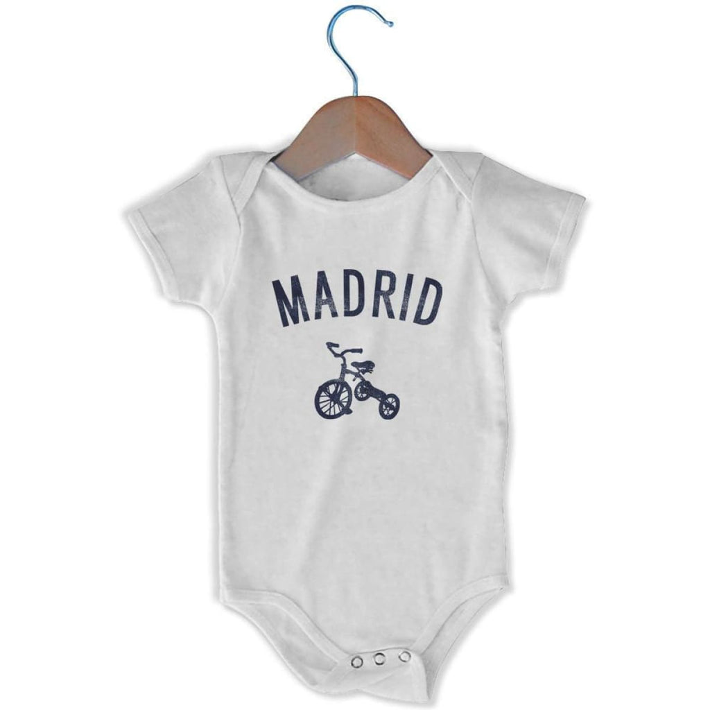 Madrid City Tricycle Infant Onesie - White / 6 - 9 Months - Mile End City