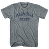 Mississippi Magnolia State Nickname Adult Tri-Blend T-shirt by Ultras