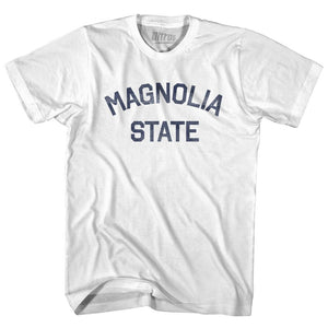 Mississippi Magnolia State Nickname Adult Cotton T-shirt by Ultras