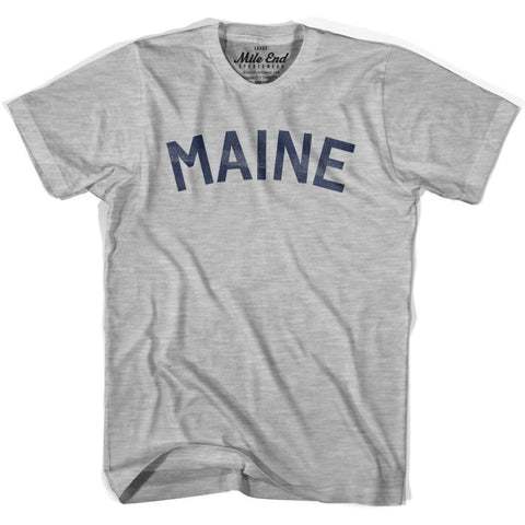 Maine Union Vintage T-shirt - Grey Heather / Youth X-Small - Mile End City