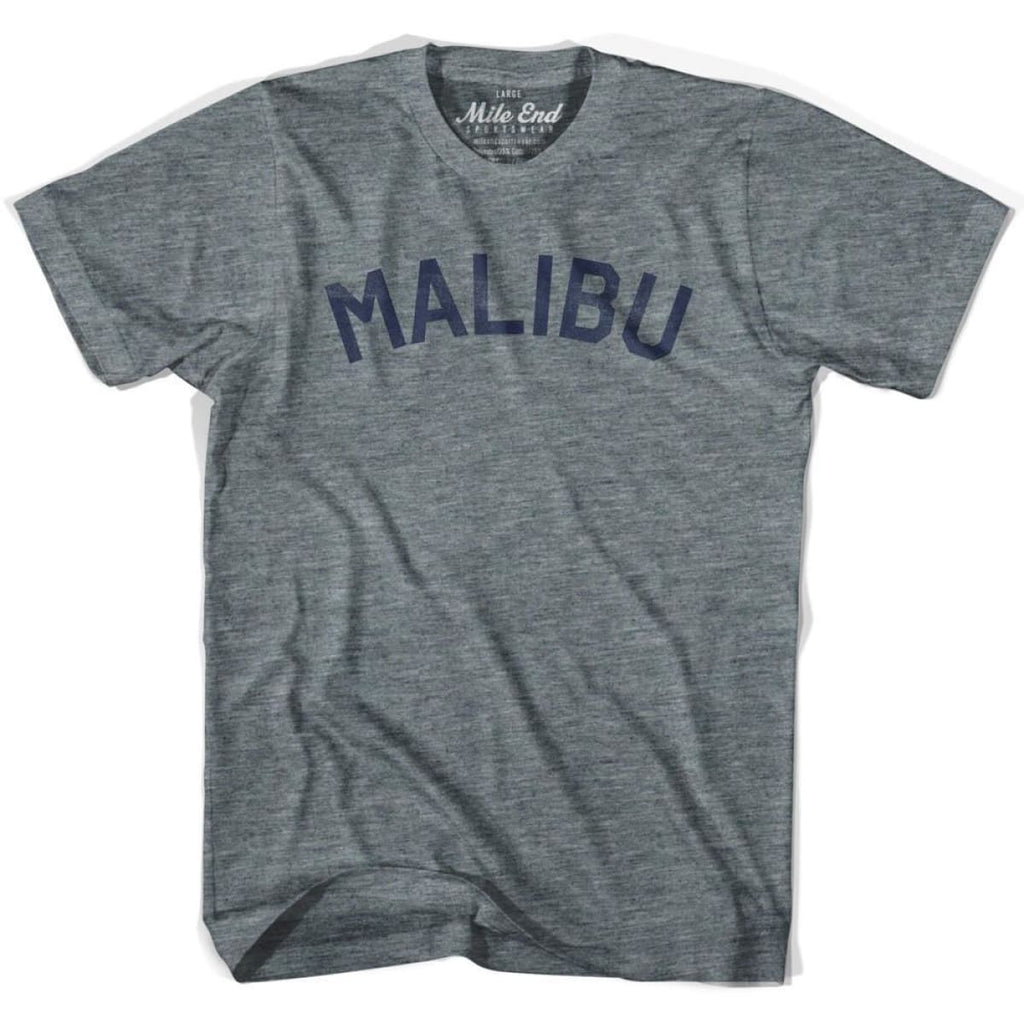 Malibu City Vintage T-shirt - Athletic Grey / Adult X-Small - Mile End City