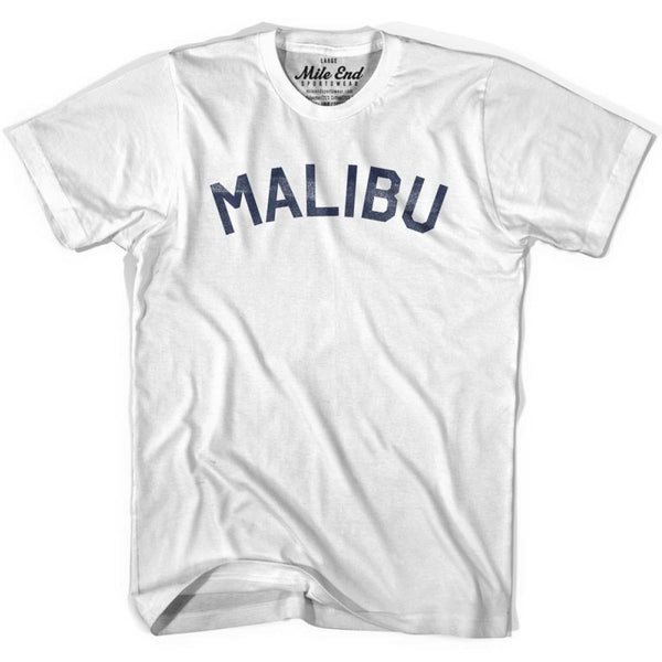 Malibu City Vintage T-shirt - White / Youth X-Small - Mile End City