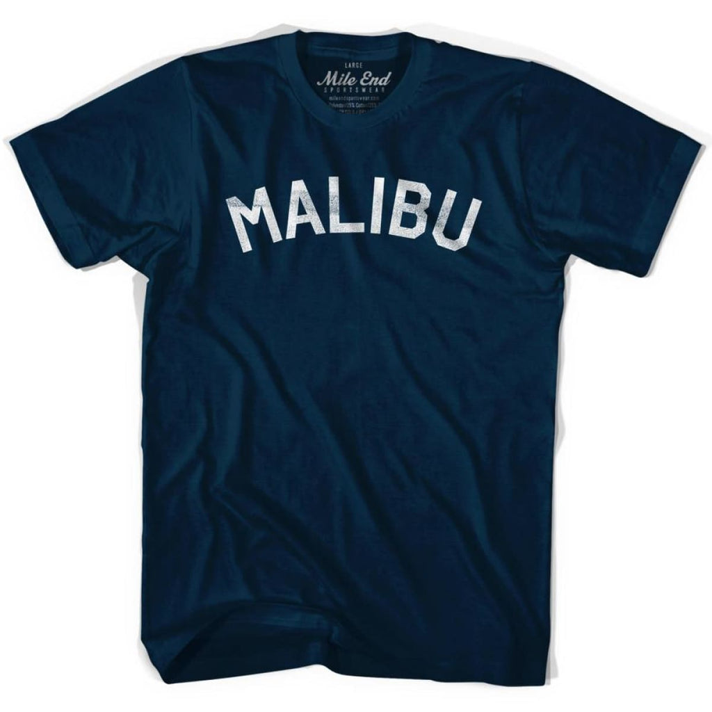Malibu Vintage T-shirt - Navy / Adult Small - Mile End City