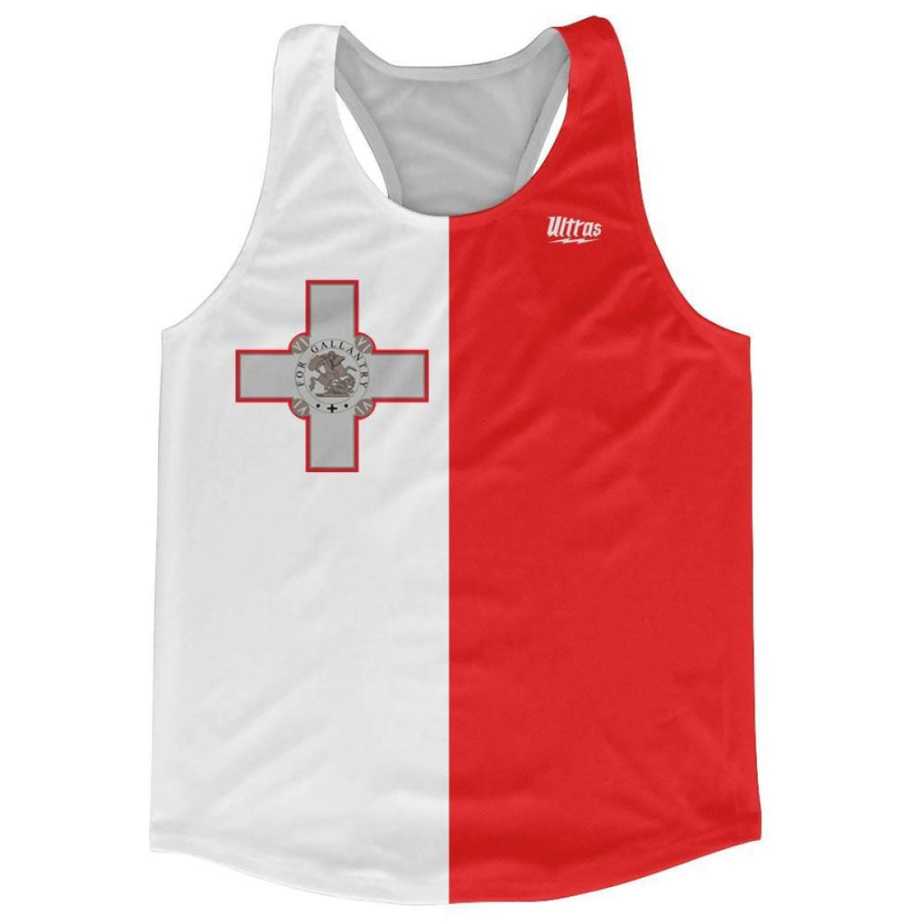 Ultras Malta Country Flag Running Tank Top Racerback Track And