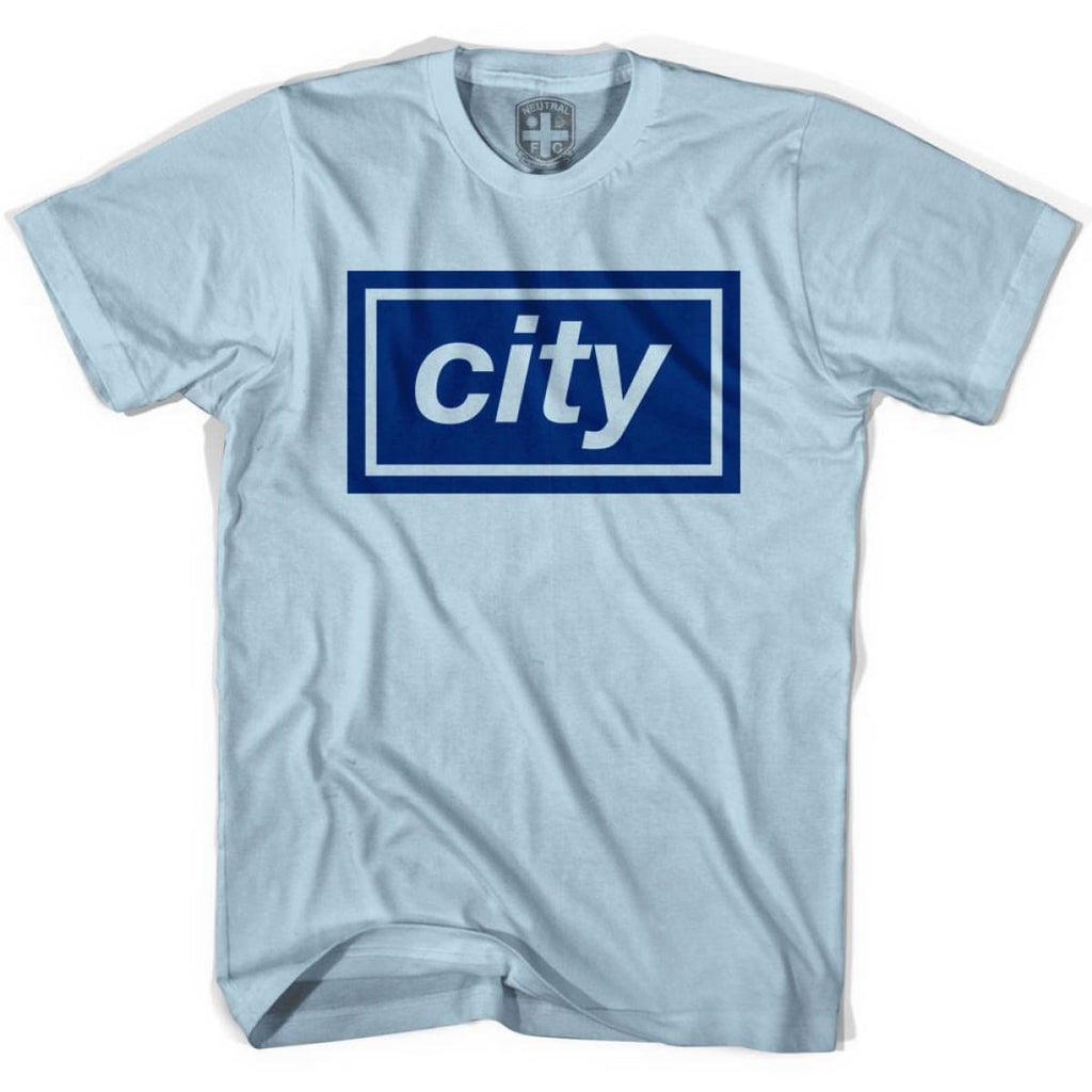 Manchester City Oasis Inspired T-shirt - Blue / Adult Small - Ultras Soccer T-shirts