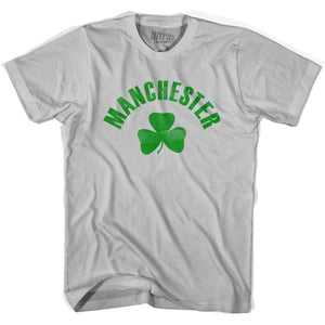 Manchester City Shamrock Cotton T-shirt - Cool Grey / Adult Small - Shamrock Collection