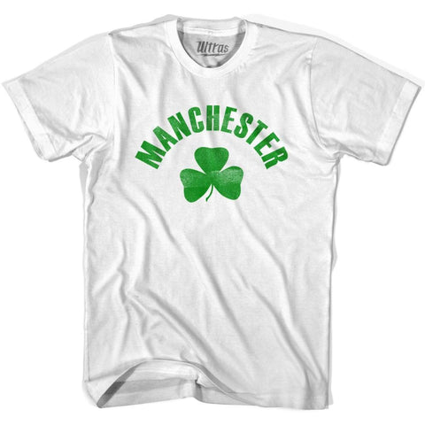 Manchester City Shamrock Cotton T-shirt - White / Adult Small - Shamrock Collection