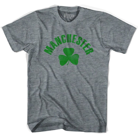 Manchester City Shamrock Tri-Blend T-shirt - Athletic Grey / Adult X-Small - Shamrock Collection