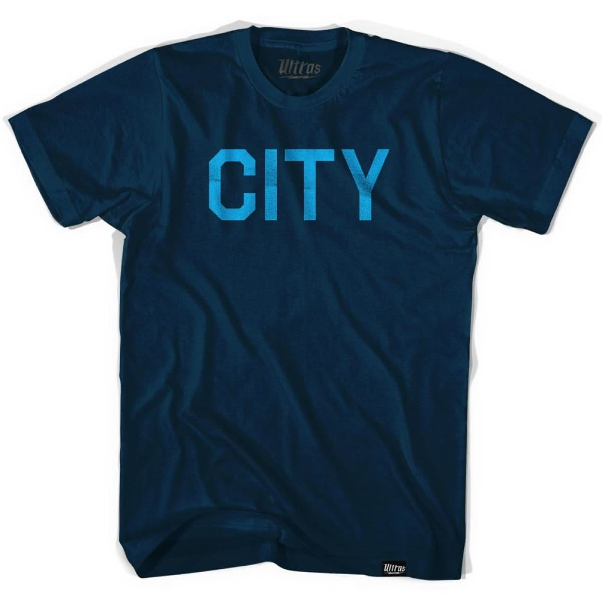 Manchester City Soccer T-shirt - Navy / Adult Small - Ultras Club Soccer T-shirt