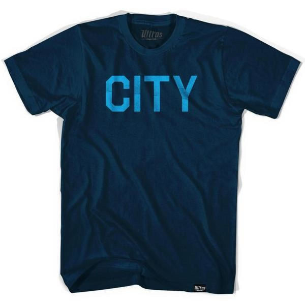 Manchester City Soccer T-shirt - Navy / Large - Ultras Club Soccer T-shirt