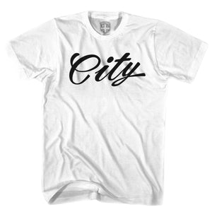 Manchester City City T-shirt - White / Youth X-Small - Ultras Soccer T-shirts