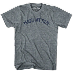 Manhattan City Vintage T-shirt - Athletic Grey / Adult X-Small - Mile End City