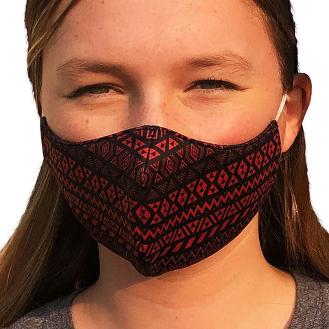 Maori Cardinal Lightweight Reversible Ear Loop Youth Face Mask Made In USA