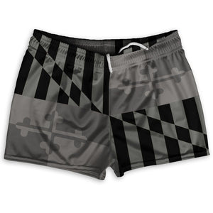 "Maryland Black Out Athletic Shorts Shorty Short Gym Shorts 2.5""Inseam By Ultras Sportswear"