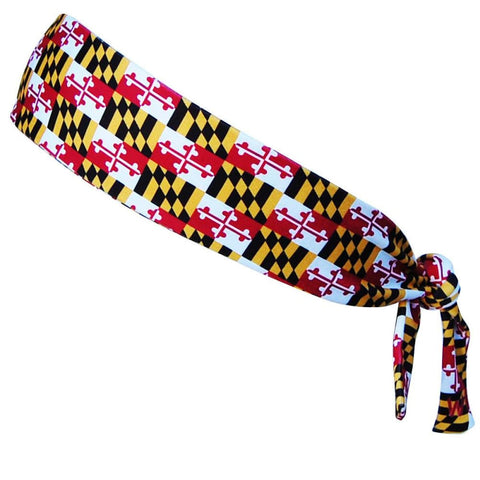 Maryland Flag Elastic Tie 2.25 Inch Headband - Wicked Headbands