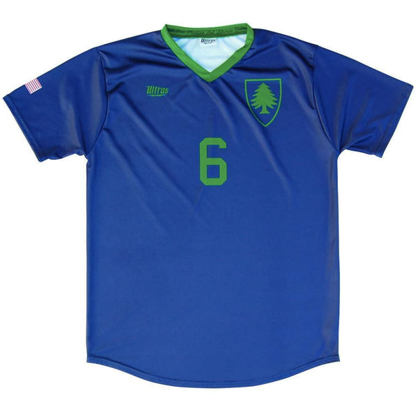 Massachusetts State Cup Soccer Jersey - Navy / Youth X-Small / No - Ultras State Cup Soccer Jerseys