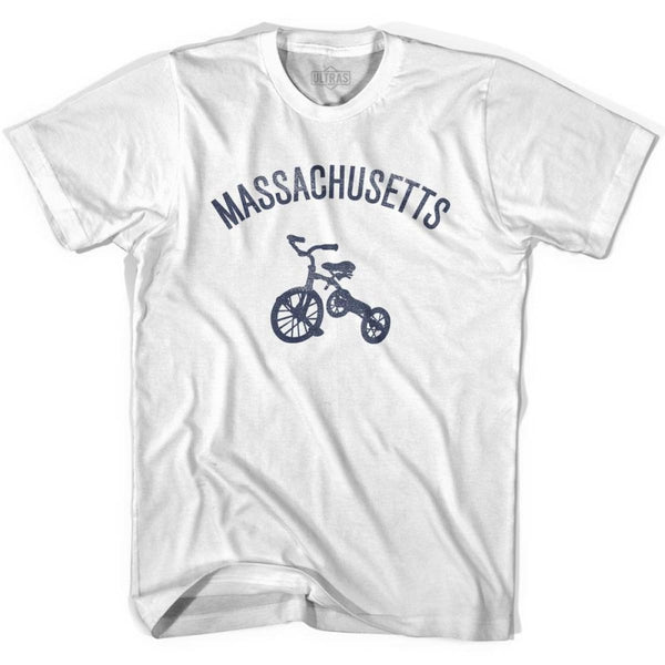 Massachusetts State Tricycle Youth Cotton T-shirt - White / Youth X-Small - Tricycle State