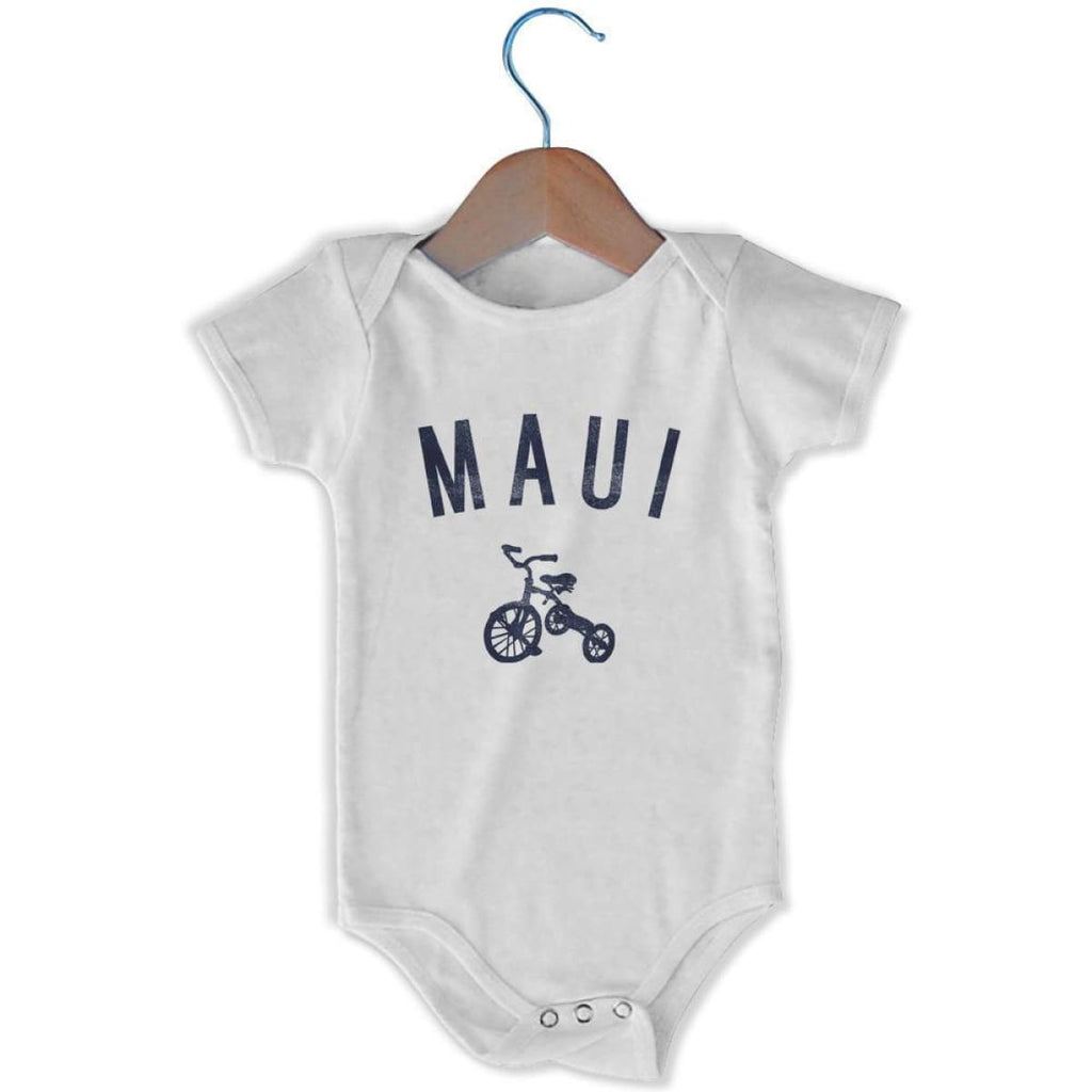 Maui City Tricycle Infant Onesie - White / 6 - 9 Months - Mile End City