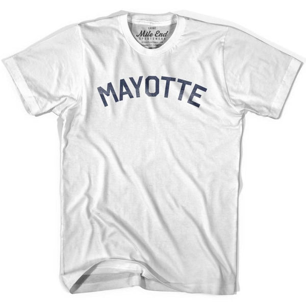Mayotte City Vintage T-shirt - White / Youth X-Small - Mile End City