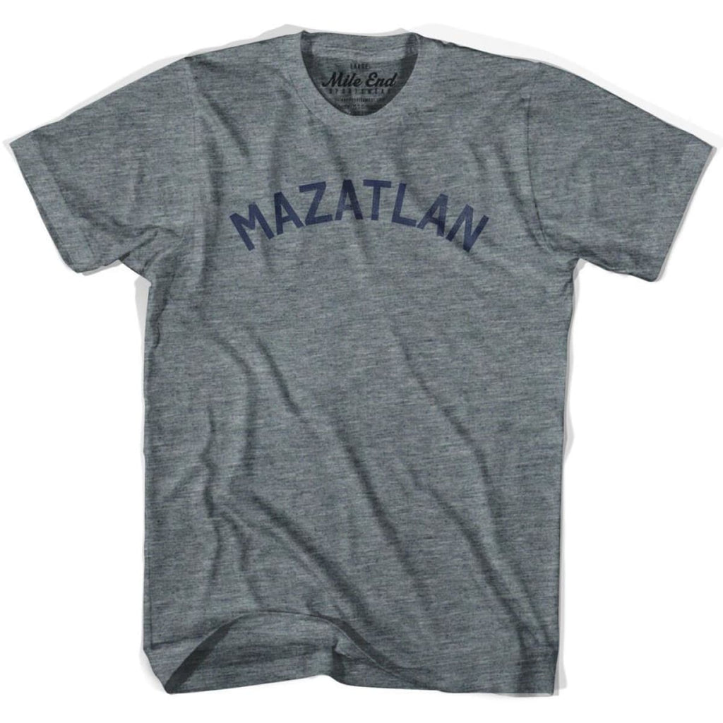 Mazatlan City Vintage T-shirt - Athletic Grey / Adult X-Small - Mile End City