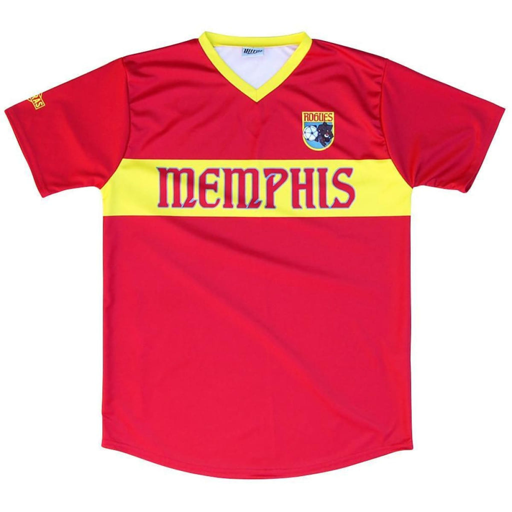 Memphis Rogues Pub Soccer Jersey - Red / Toddler 1 / No - Ultras NASL Soccer Jersey