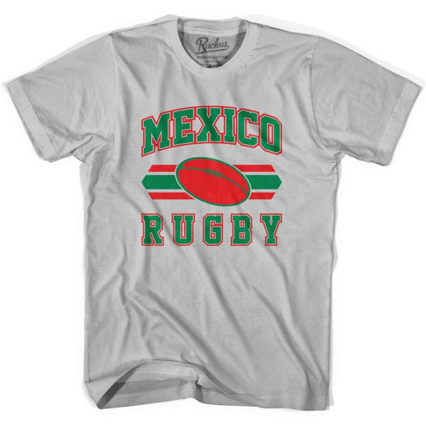 Mexico 90s Rugby Ball T-shirt - Silver / Youth X-Small - Rugby Sevens