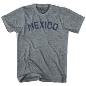 Mexico City Vintage T-shirt - Athletic Grey / Adult X-Small - Mile End City