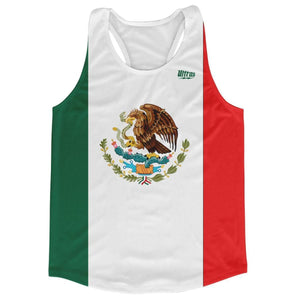Mexico Country Flag Running Tank Top Racerback Track and Cross Country Singlet Jersey - Green White Red / Adult X-Small - Running Top