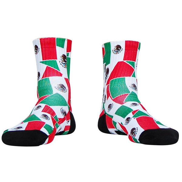 Mexico Flag Party Athletic Crew Socks - Socks