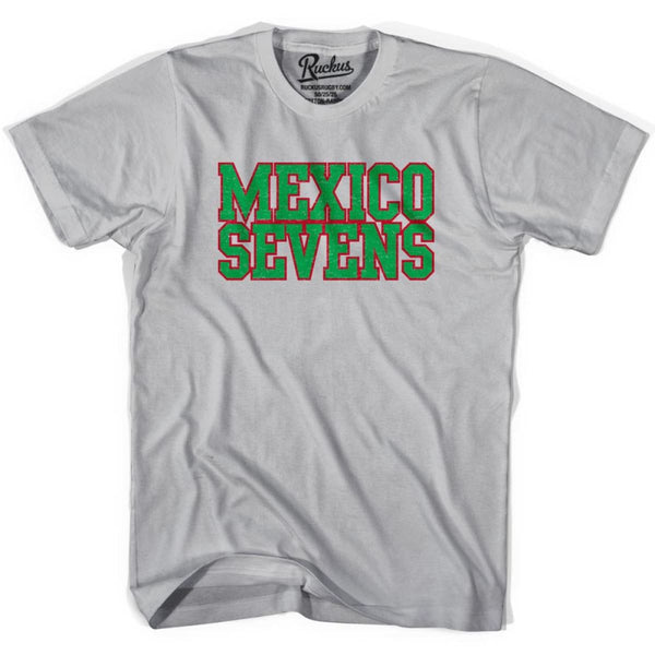 Mexico Seven Rugby T-shirt - Cool Grey / Youth X-Small - Rugby T-shirt