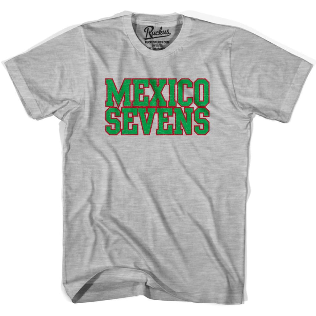 Mexico Seven Rugby T-shirt - Heather Grey / Youth X-Small - Rugby T-shirt