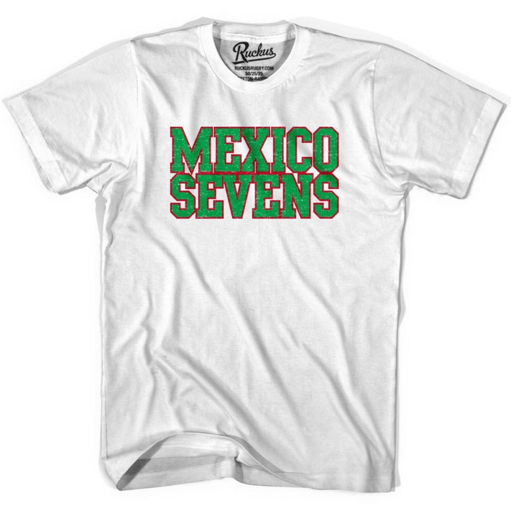 Mexico Seven Rugby T-shirt - White / Youth X-Small - Rugby T-shirt