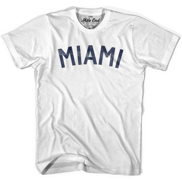 Miami City Vintage T-shirt - White / Youth X-Small - Mile End City