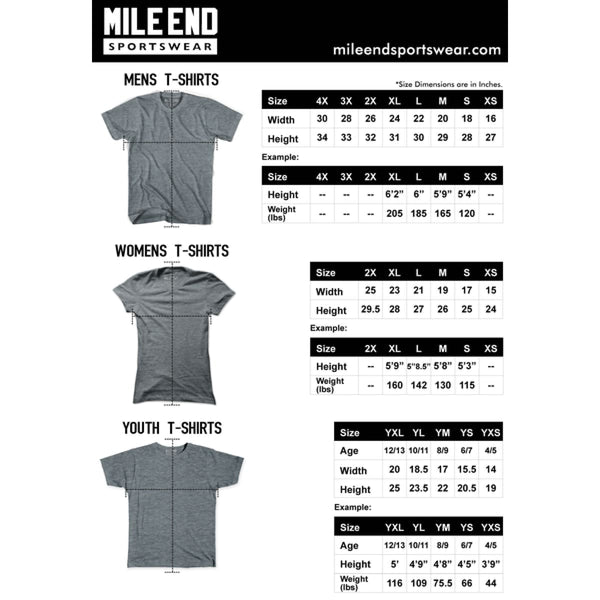 Mile End Athletic Blue Blank T-shirt - Mile End City