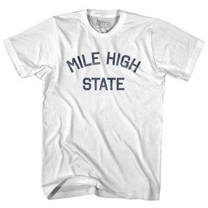 Colorado Mile High State Nickname Adult Cotton T-shirt by Ultras