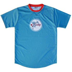 Minnesota Kicks NASL Camp Soccer Jerseys - Aqua / Youth X-Small / No - Camp Soccer Jerseys