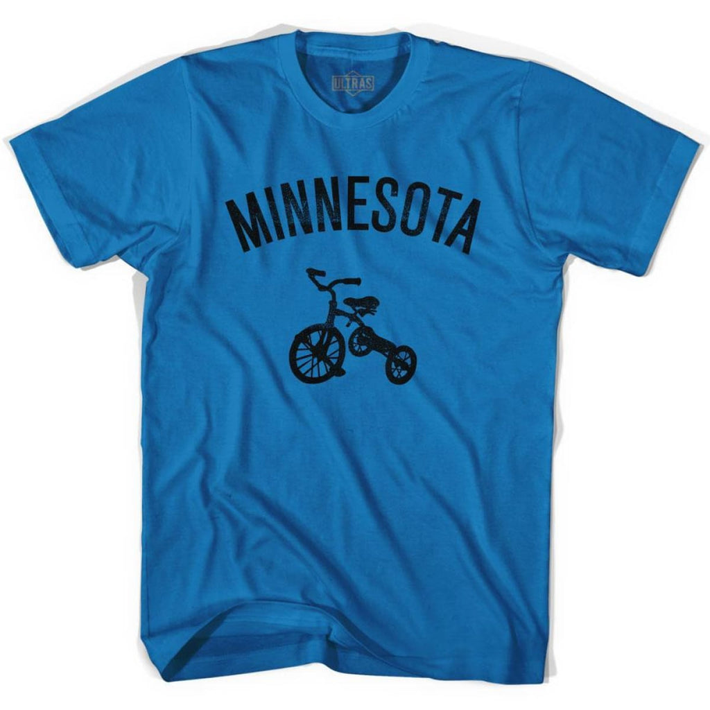 Minnesota State Tricycle Adult Cotton T-shirt - Royal / Adult Small - Tricycle State
