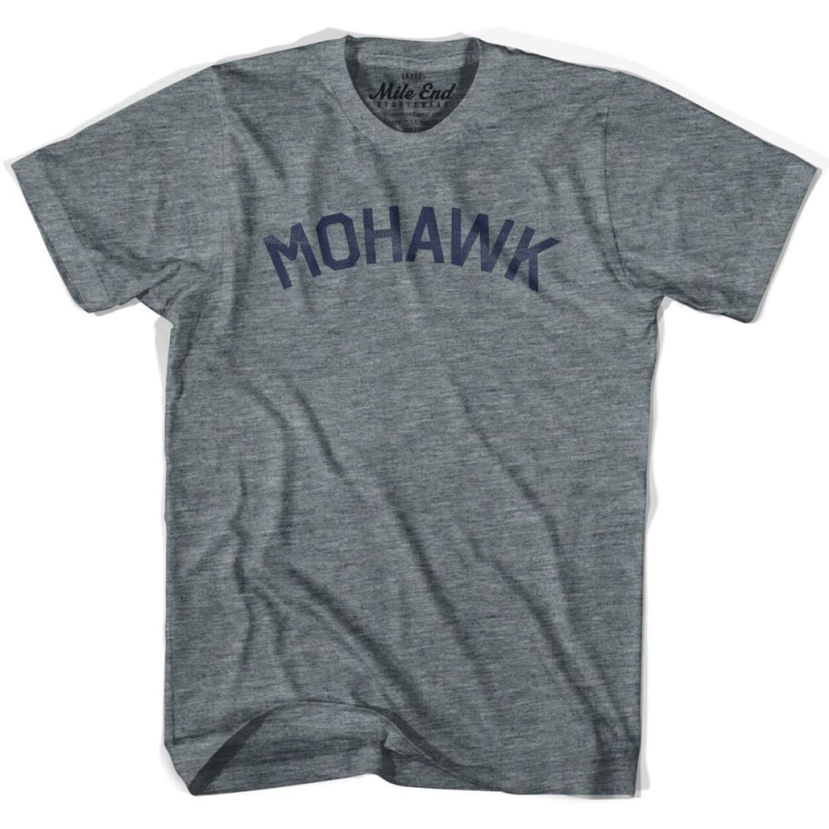 Mohawk Tribe Vintage T-shirt - Athletic Blue / Adult X-Small - Mile End City