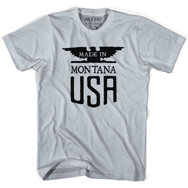 Montana Nebraska Vintage Eagle T-shirt - Cool Grey / Youth X-Small - Made in Eagle