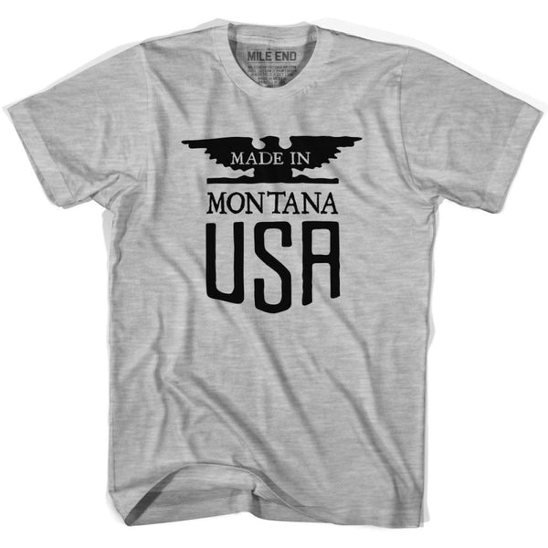 Montana Nebraska Vintage Eagle T-shirt - Grey Heather / Youth X-Small - Made in Eagle