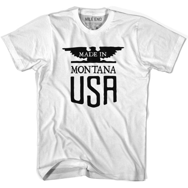 Montana Nebraska Vintage Eagle T-shirt - White / Youth X-Small - Made in Eagle