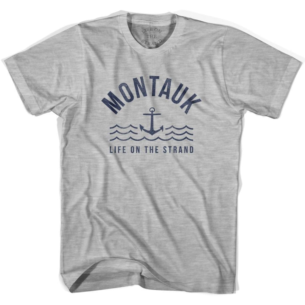 Montauk Anchor Life on the Strand T-shirt - Grey Heather / Youth X-Small - Life on the Strand Anchor