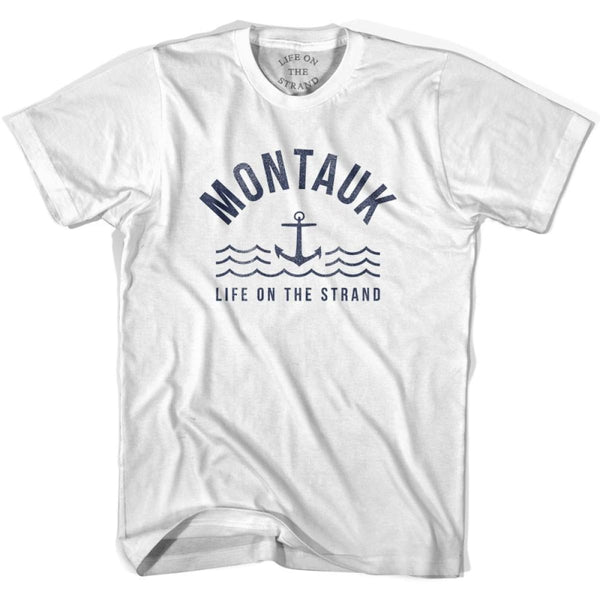 Montauk Anchor Life on the Strand T-shirt - White / Youth X-Small - Life on the Strand Anchor