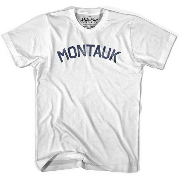 Montauk City Vintage T-shirt - White / Youth X-Small - Mile End City