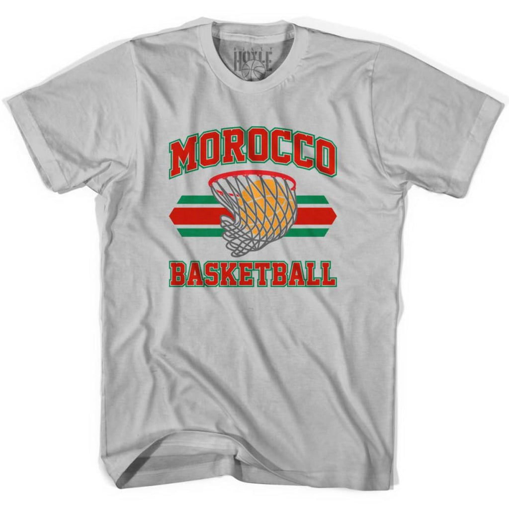 Morocco 90s Basketball T-shirts - Silver / Youth X-Small - Basketball T-shirt